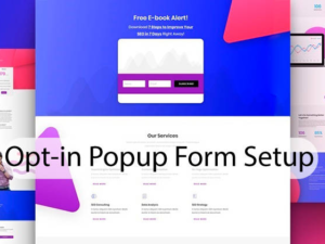 Opt-in Popup Form Setup - Opt-in popups can get you more subscribers.