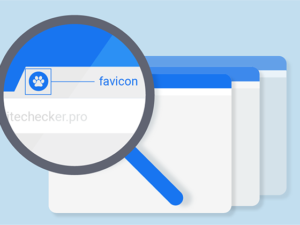 Favicon -That little square image next to your website name in the browser tab, that's your favicon and it's quite an important branding element.